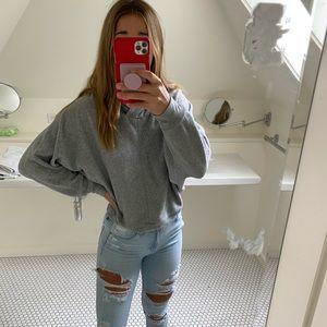 Chunky grey sweatshirt
